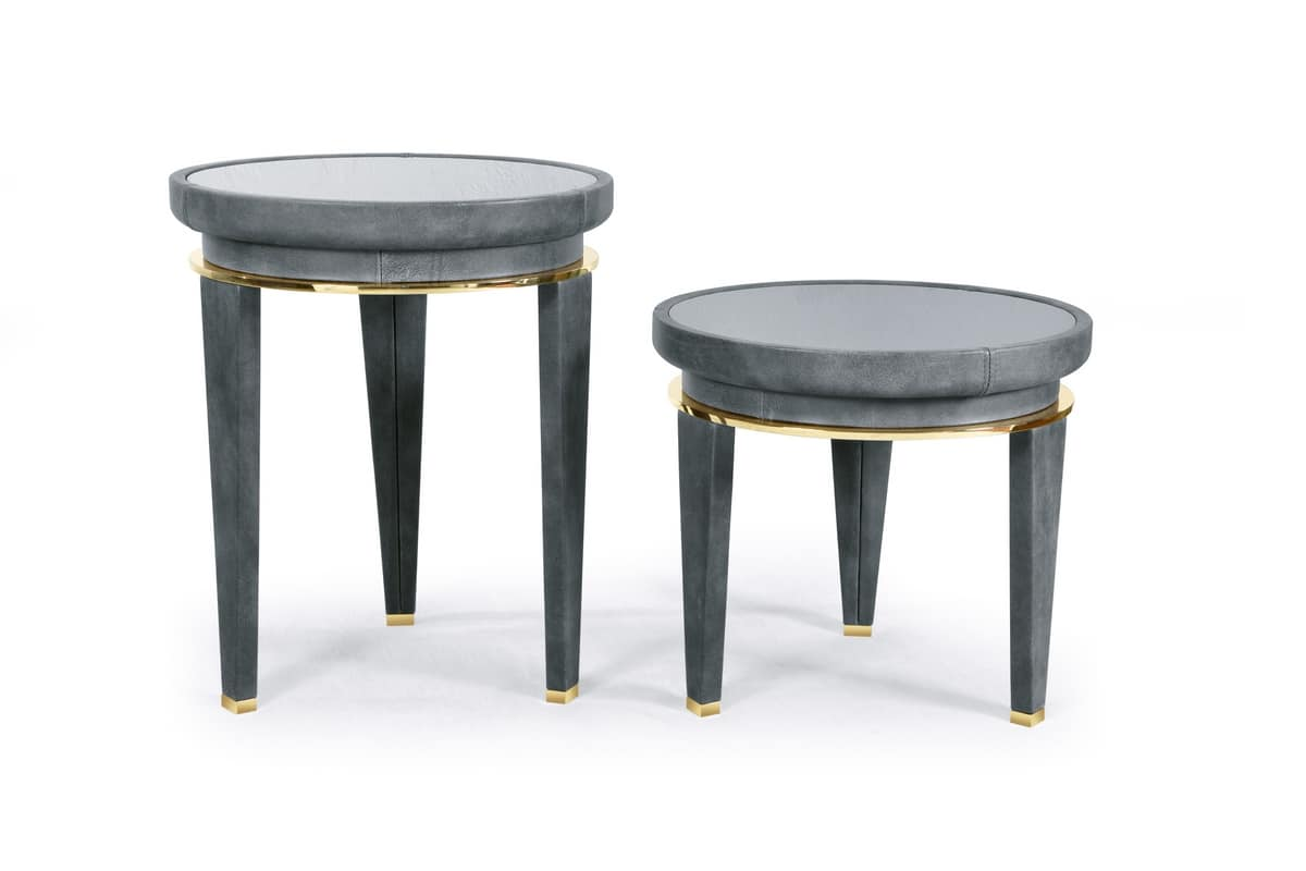 W05CT-50 W05ST-50, Round side tables in wood