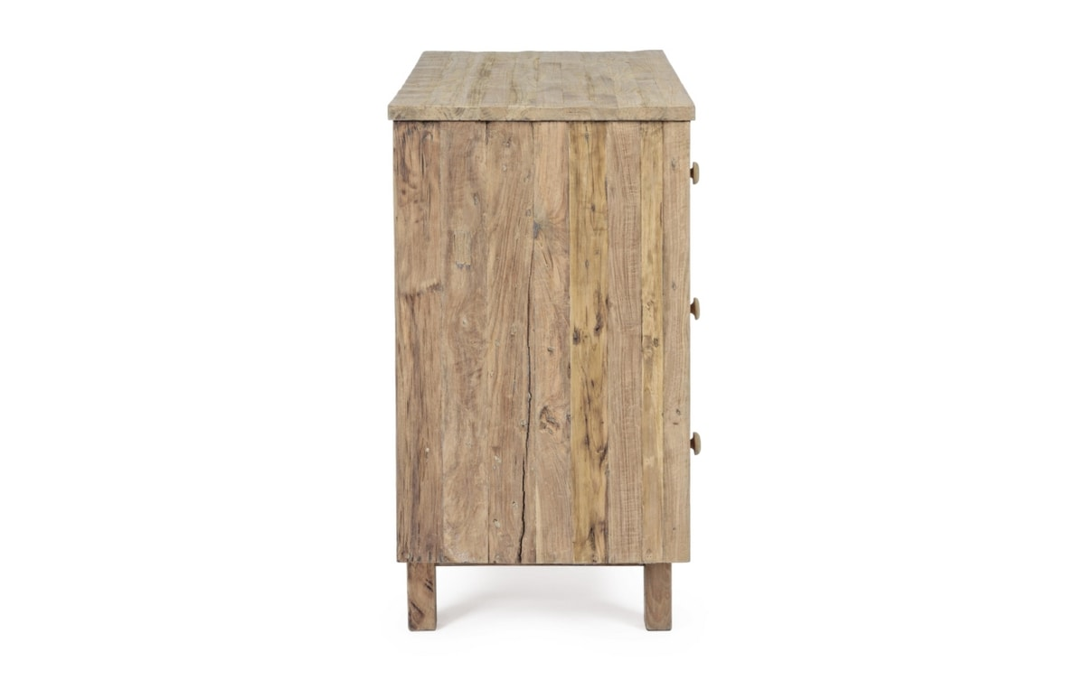 Chest of drawers 3C Rania, Teak wood chest of drawers