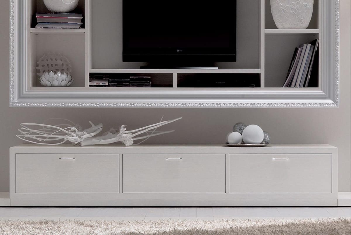 Keope Art. 413, Low cabinet for living room, with three drawers