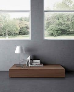 Segno, Drawers with recessed handle, for bedroom