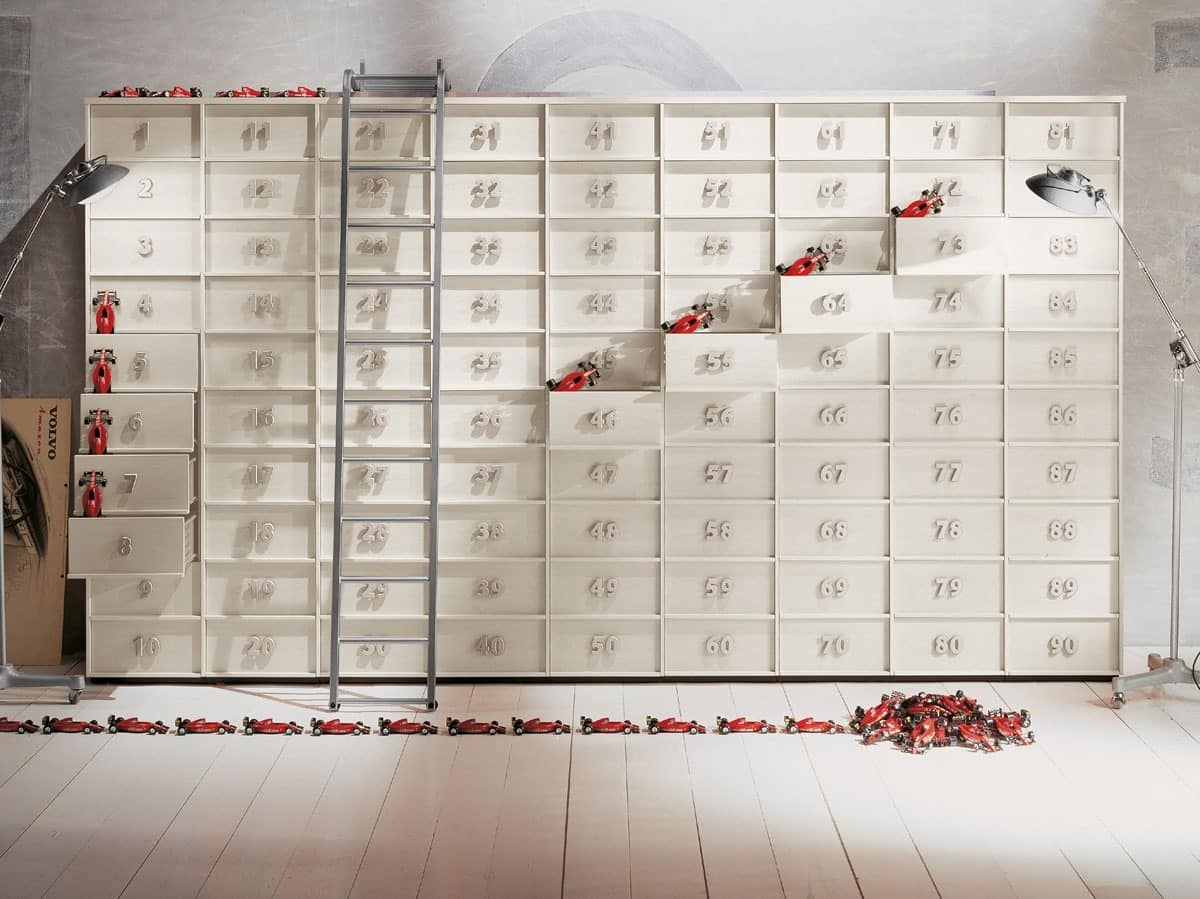 TOOLBOX comp.04, Modular container with drawers for home and offices