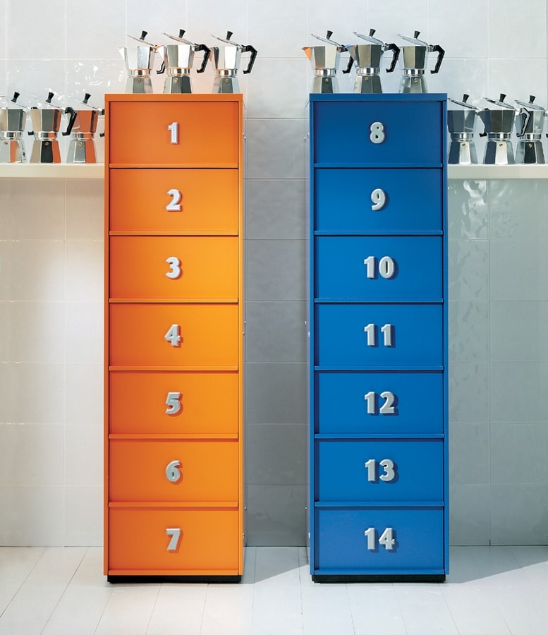 TOOLBOX comp.06, Modern tallboy for home, with drawers