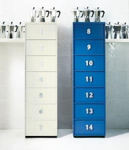 TOOLBOX comp.07, Modern tallboy for home, with drawers