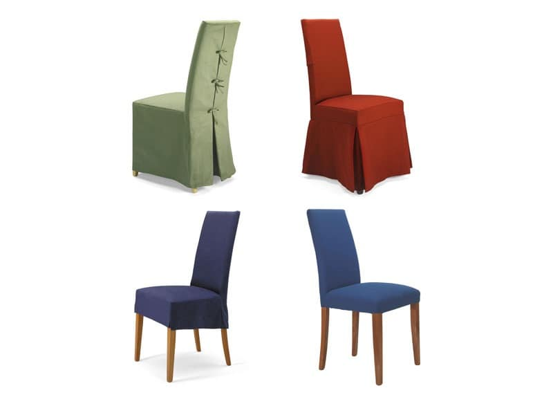 Antony, Beech padded chair, removable covering