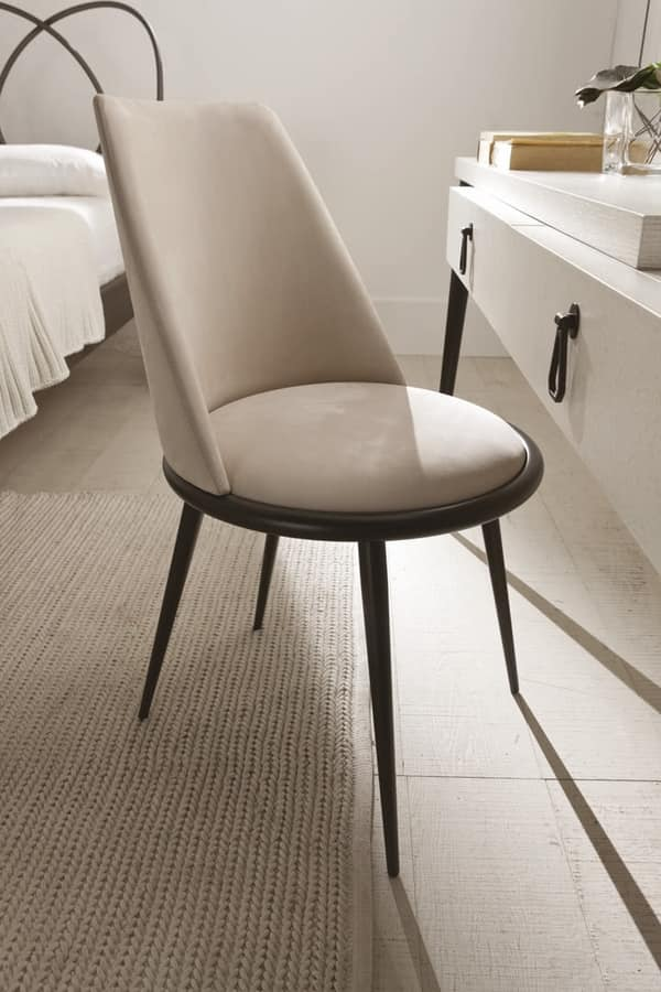 Aurora chair, Chair fully clothed, removable, padded