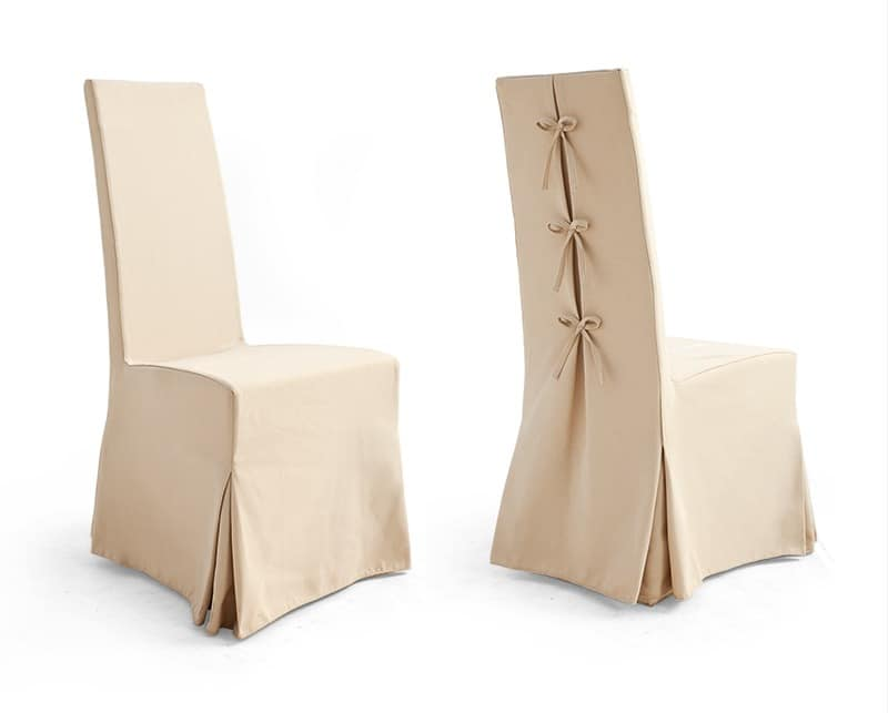 CORONA Art. 1169, Chair with skirt, in Bellini fabric, for banquet hall