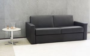 Afrodite sky, Sofa bed at outlet price, in eco-leather