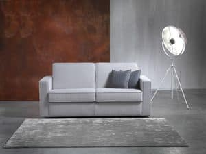 Amico, Sofa bed with wooden frame, settled net