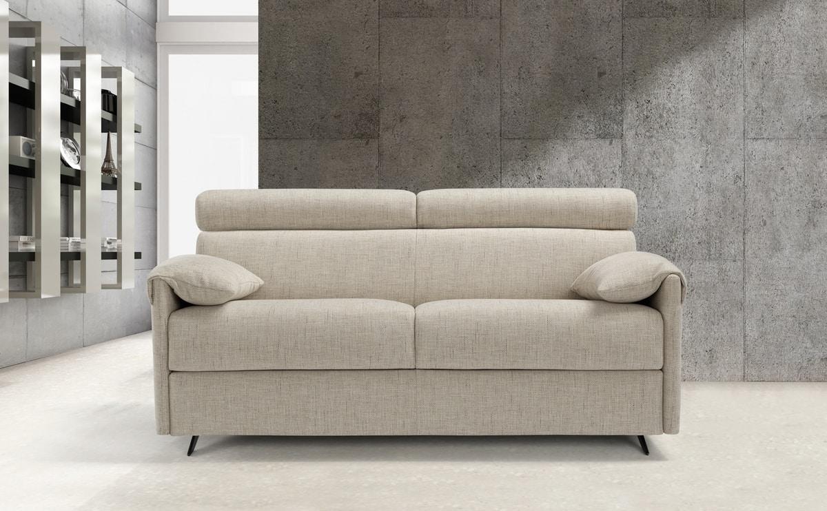 Barolo, Sofa bed with adjustable headrest
