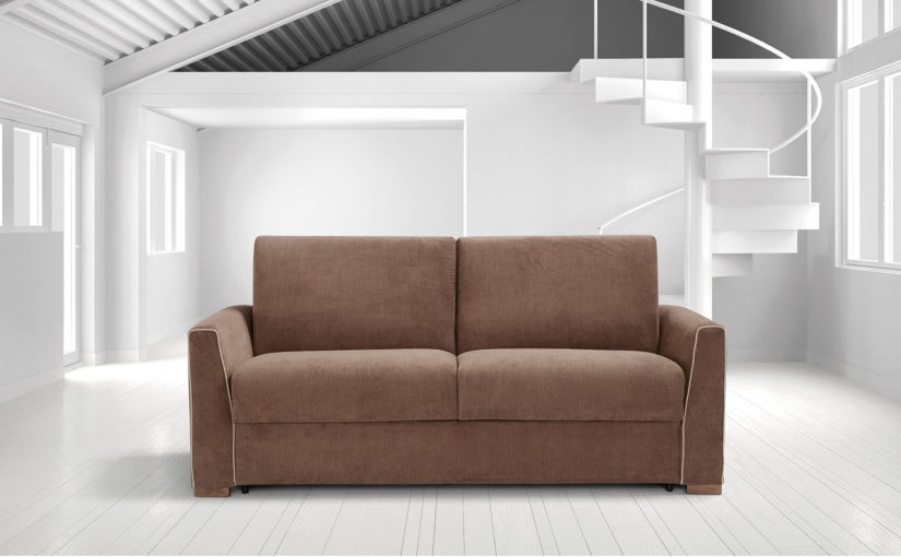 Berlino, Sofa bed with electro-welded base