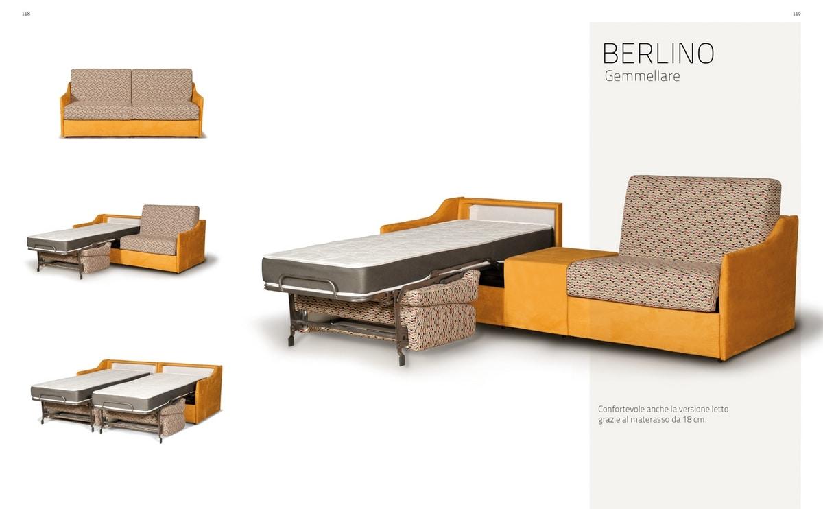 Berlino Gemellare, Sofa transformabile in two single beds