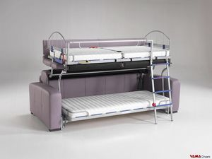 Bunk bed sofa, 3-seater bunk bed sofa with Made in Italy mechanism