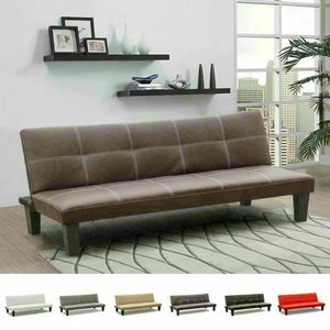 Sofa Bed Ready 3 Seater Leatherette Economy Bed TOPAZIO, Economical leatherette sofa bed