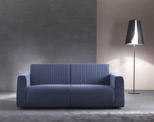 Dodo, Modern sofa bed with wooden frame