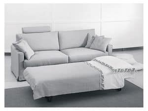 Dry sofa-bed, Modern sofa bed, various finishes, for apartments