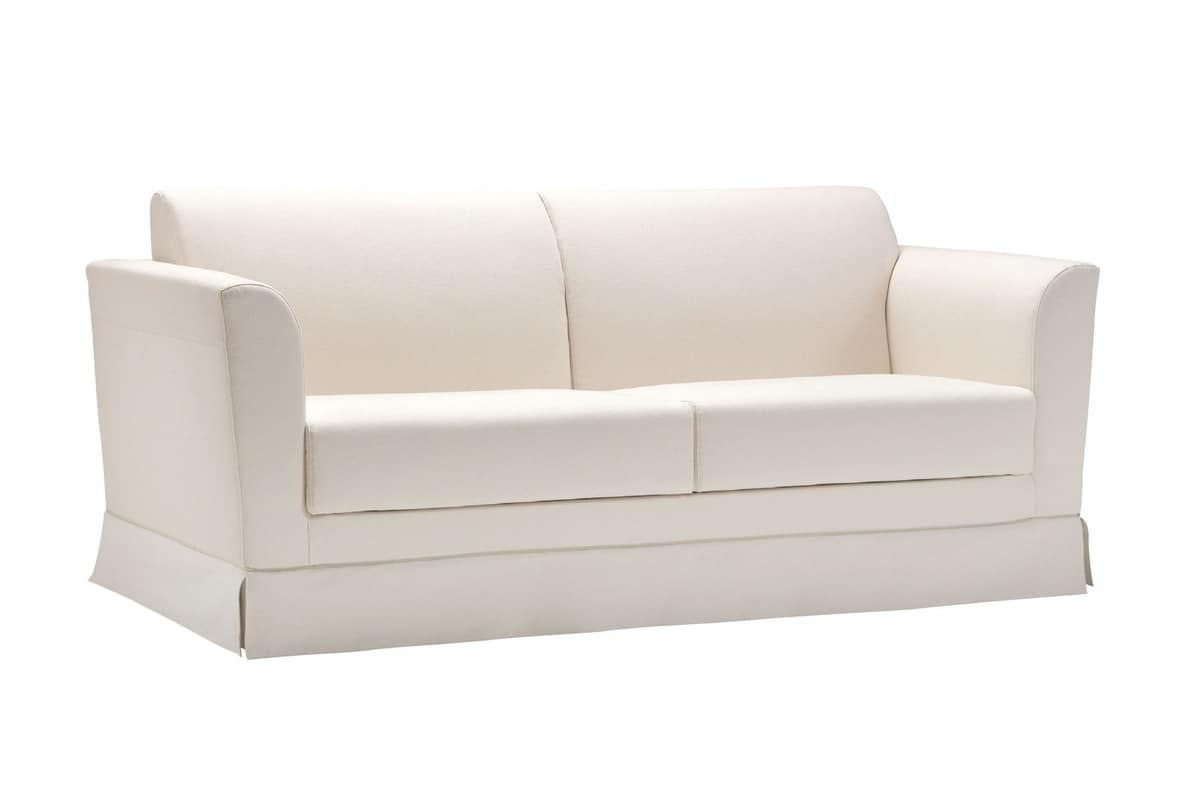 Ercole, Sofa bed, upholstered with completely removable fabric