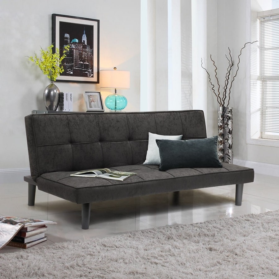 GIADA 2-Seat Sofa Bed Made Of Fabric For Home And Office - DI3178GIN, Simple 2-seater sofa bed