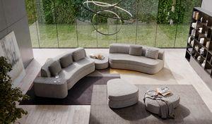 Goodman, Curved modular sofa bed
