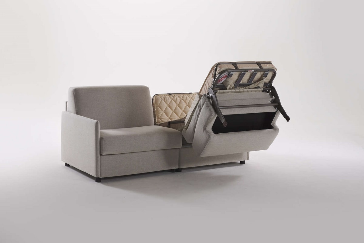 Lampo gemellare, Sofa transformable into two bed