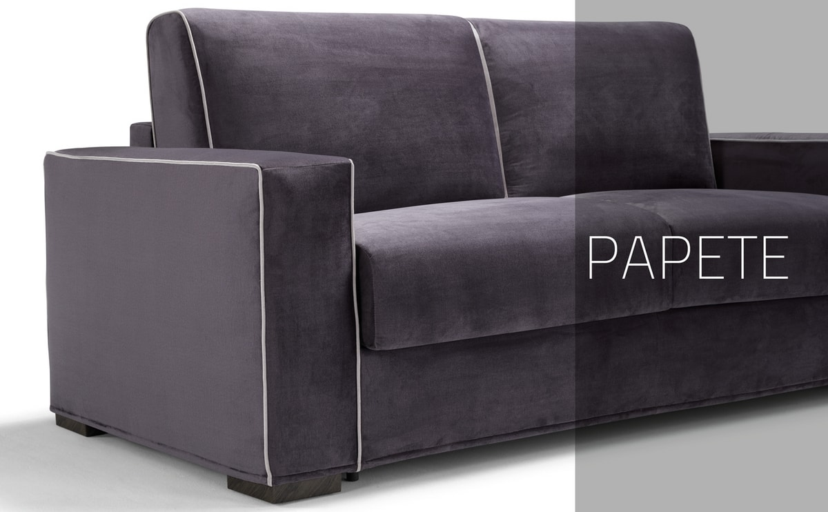Papete, Sofa bed with elegant sober lines