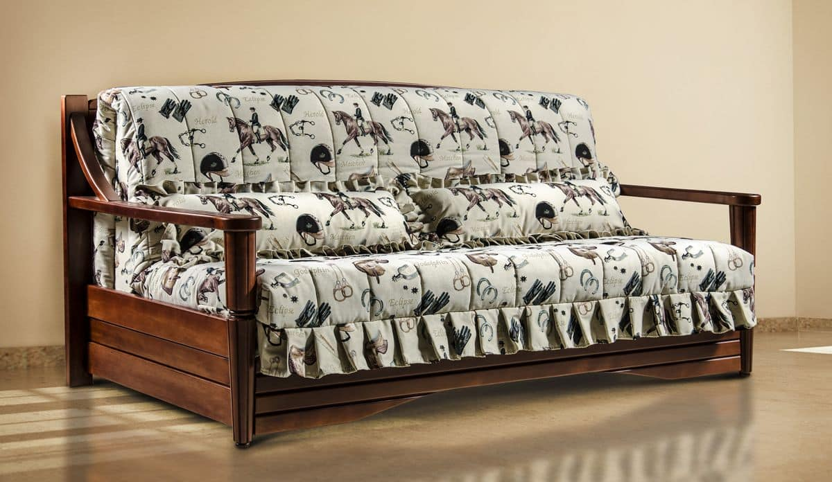 Quebec, Sleeper Sofa In The Rustic Style, Eco Friendly, Various Sizes
