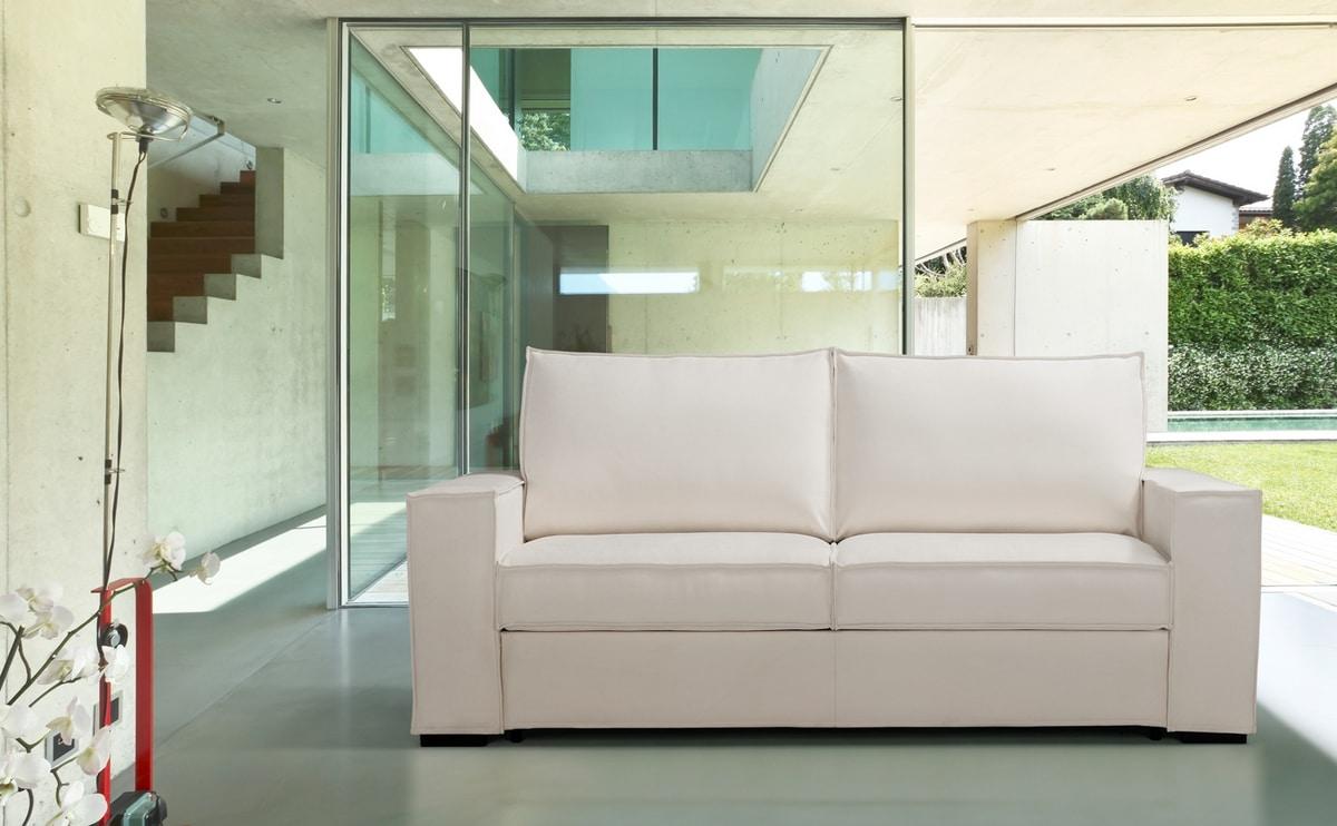 Salento, Linear design sofa bed