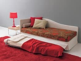 Sommier, Convertible sofa, with orthopedic net, for apartments