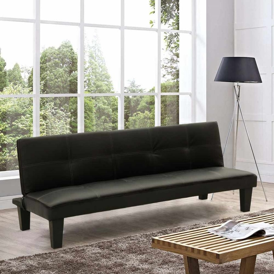 TOPAZIO LIVING Small Sofa Bed Made With Faux Leather For Studio Apartment Two-Room Apartment - DI1706LIVN, Sofa bed ideal for small apartments