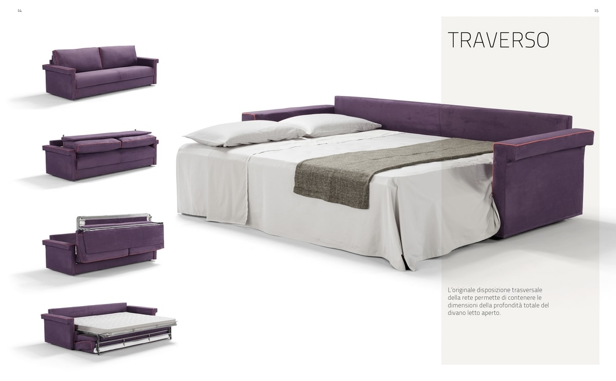 Traverso, Space-saving sofa bed