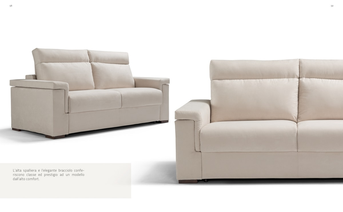 Venere, Sofa bed with high back