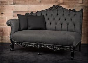 Angolo sx wool, Sofa, left corner, black lacquered