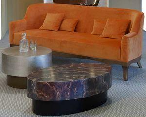 Art. 21360, Sofa with orange velvet upholstery