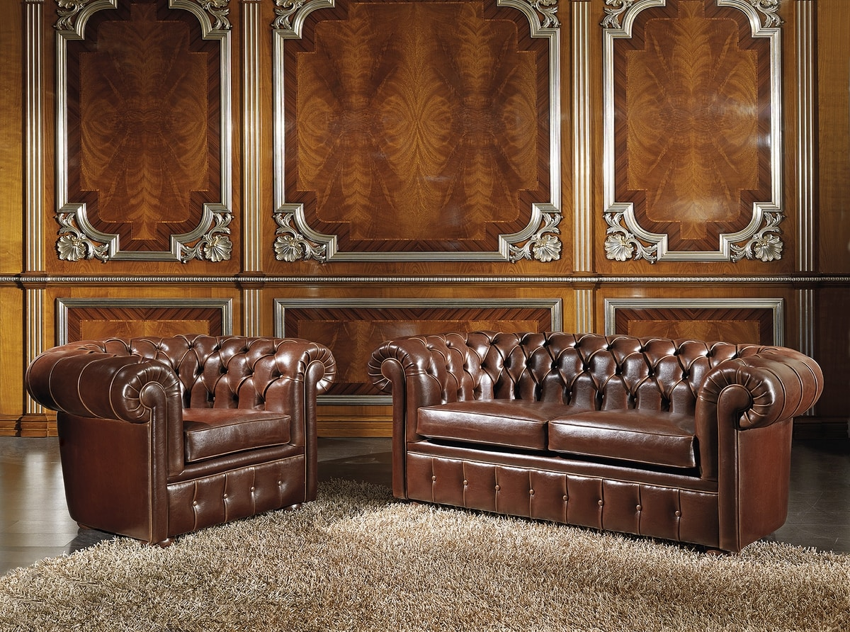 ART. 2757, 2-seater sofa in chester model leather