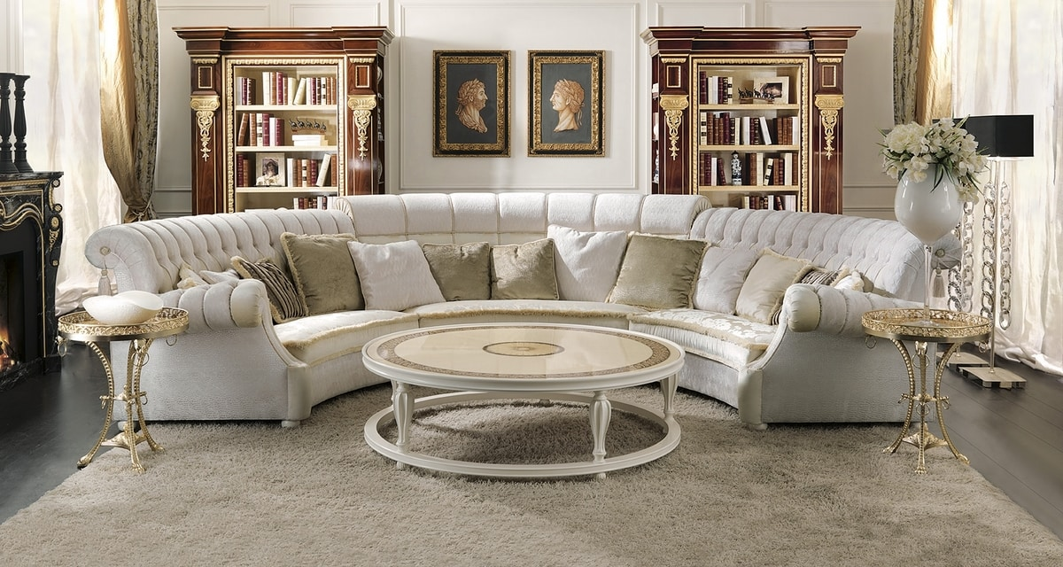 ART. 2937, Modular curved sofa