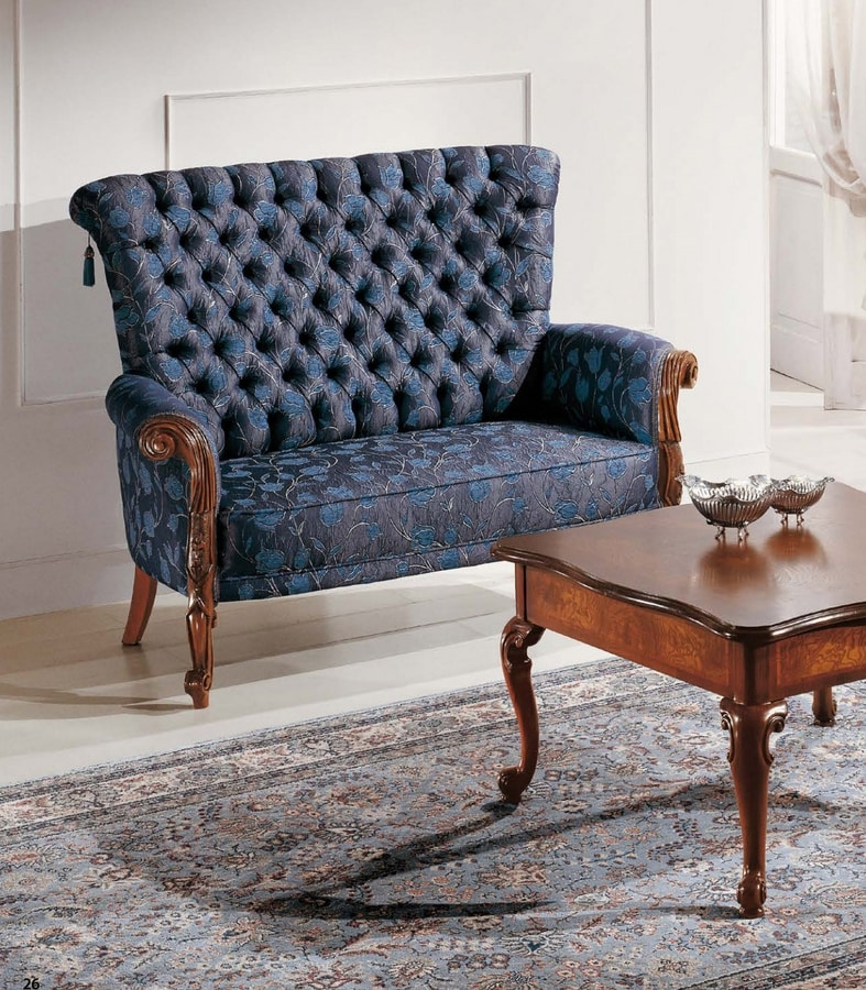 Art. 3586, Small sofa with capitonné back
