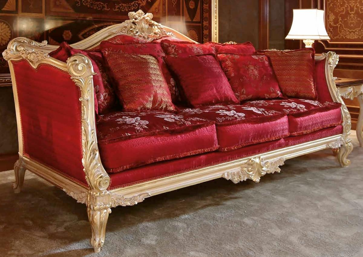 Elegant And Luxurious Hand Carved Sofa