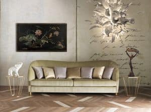 Art. CA913, Elegant sofa with velvet upholstery