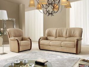 Bellepoque sofa, Classic sofa with elegant wooden details