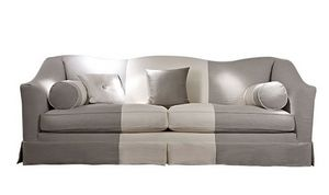 Beniamino, Sofa with removable fabric upholstery