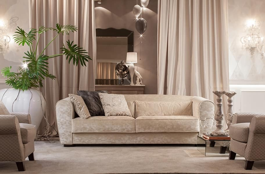 Boulevard, Sofa for the living room, with fully removable cover