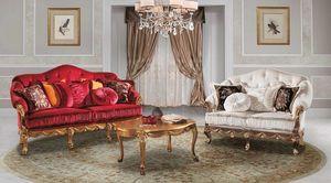 CASANOVA, Very elegant classic sofa, in velvet