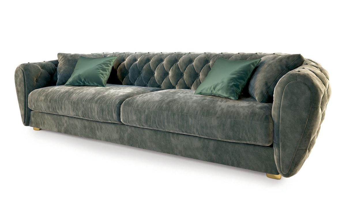 Celeste, Sofa with capitonné padding