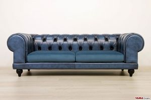 Chester Plus, Leather sofa with impressive armrest