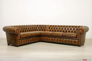 Chesterfield corner sofa, Corner sofa with tufted padding