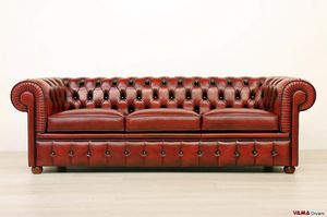 Chesterfield sofa, Chesterfield sofa in leather