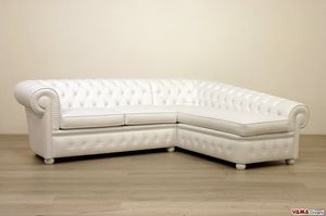 Chesterfield with chaise longue, Chester sofa with dormeuse