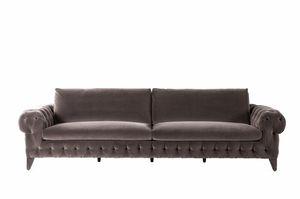 Chrysler sofa, Classic style sofa with capitonné padding
