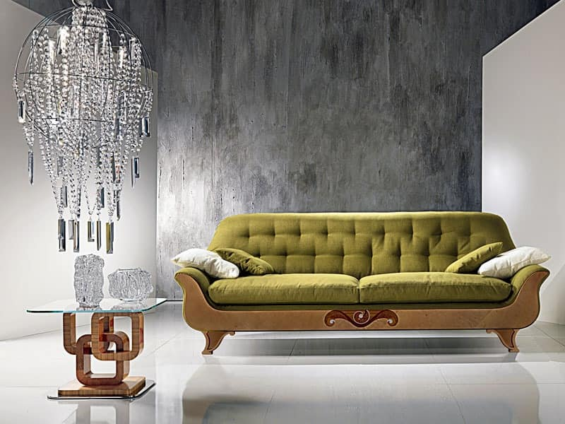 DI13 Cherubino sofa, Sofa classic with quilted back, for modern lounges