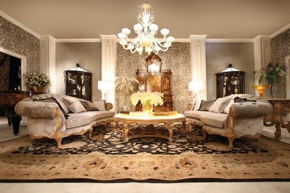 Sofa 4870, Classic style curved sofa