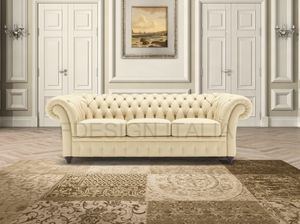 Duse, Leather sofa with quilted work